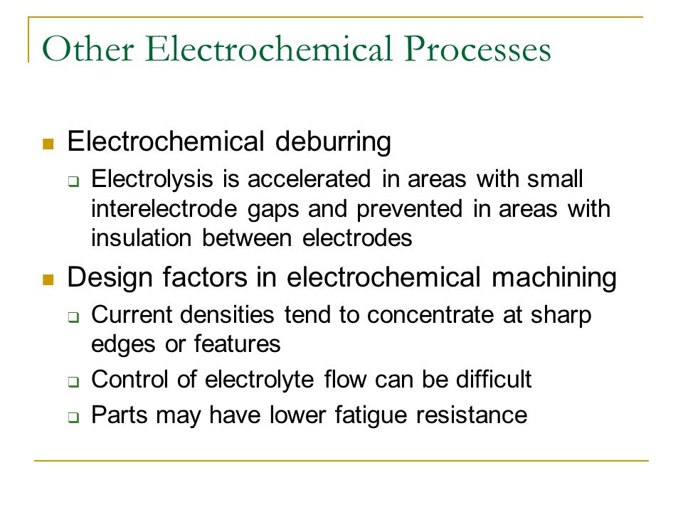 Other Electrochemical Processes