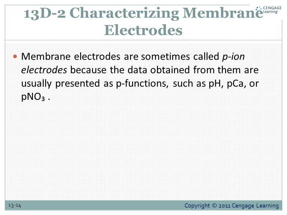 13D-2 Characterizing Membrane Electrodes