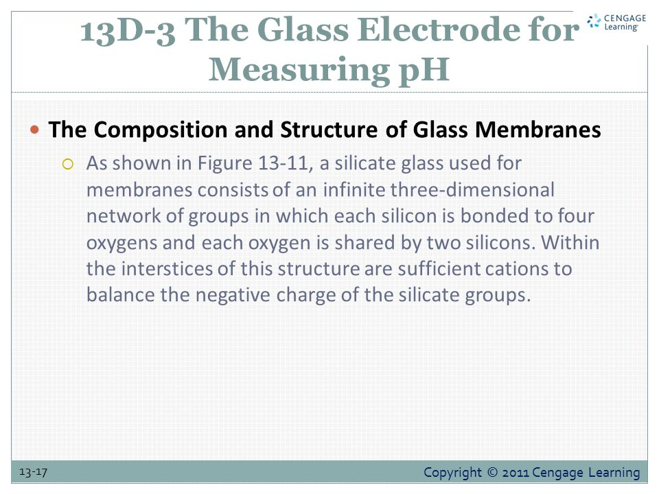 13D-3 The Glass Electrode for Measuring pH