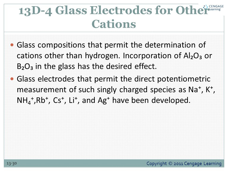 13D-4 Glass Electrodes for Other Cations