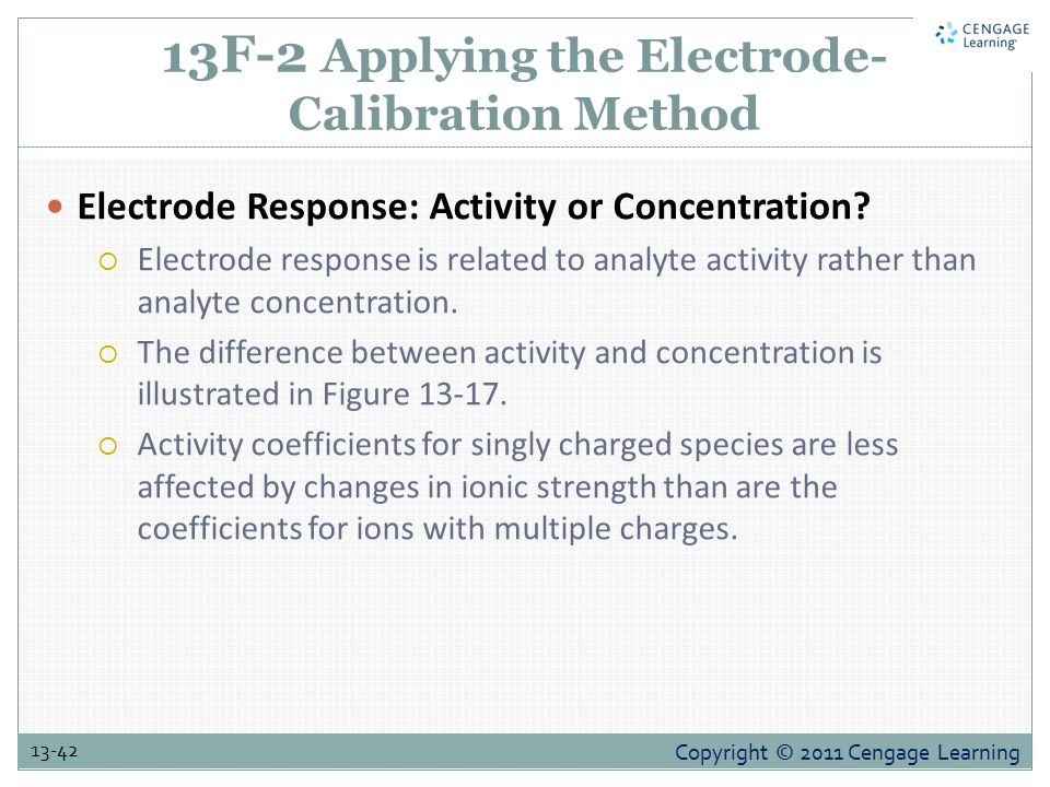 13F-2 Applying the Electrode-Calibration Method