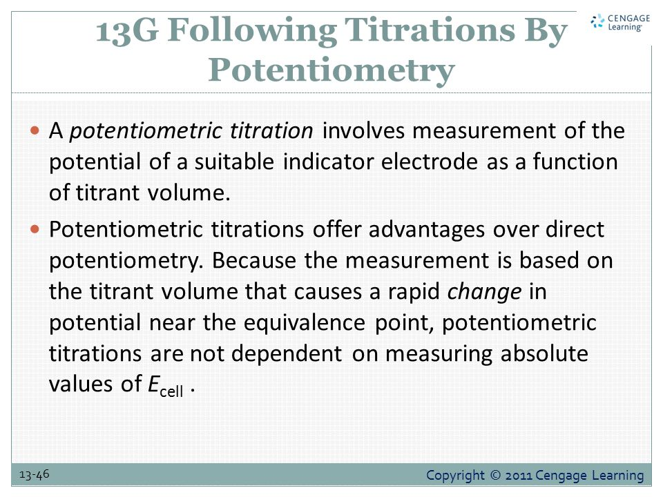13G Following Titrations By Potentiometry