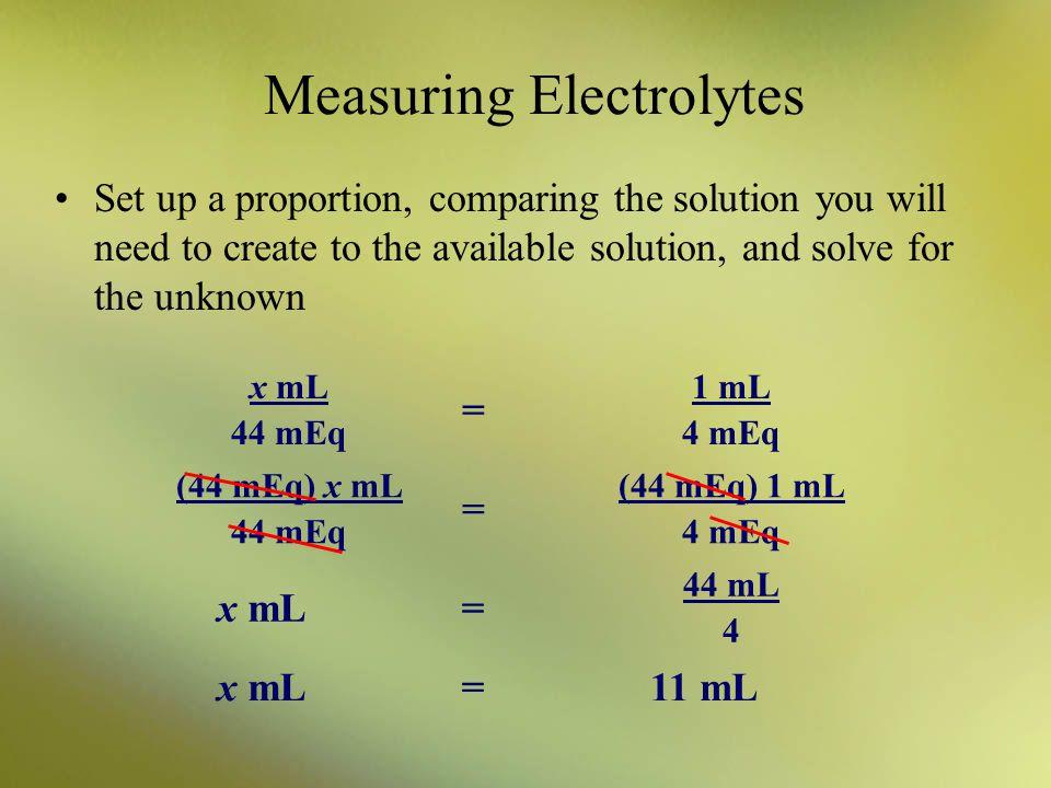 Measuring Electrolytes