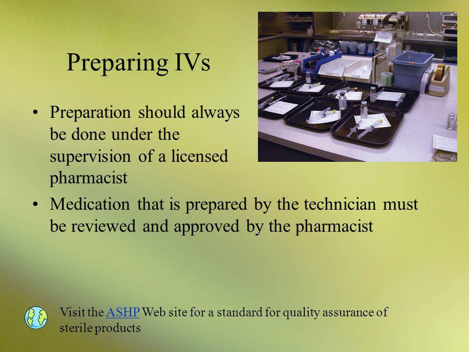 Preparing IVs