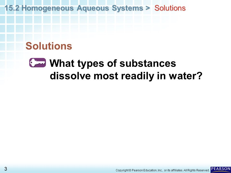 What types of substances dissolve most readily in water