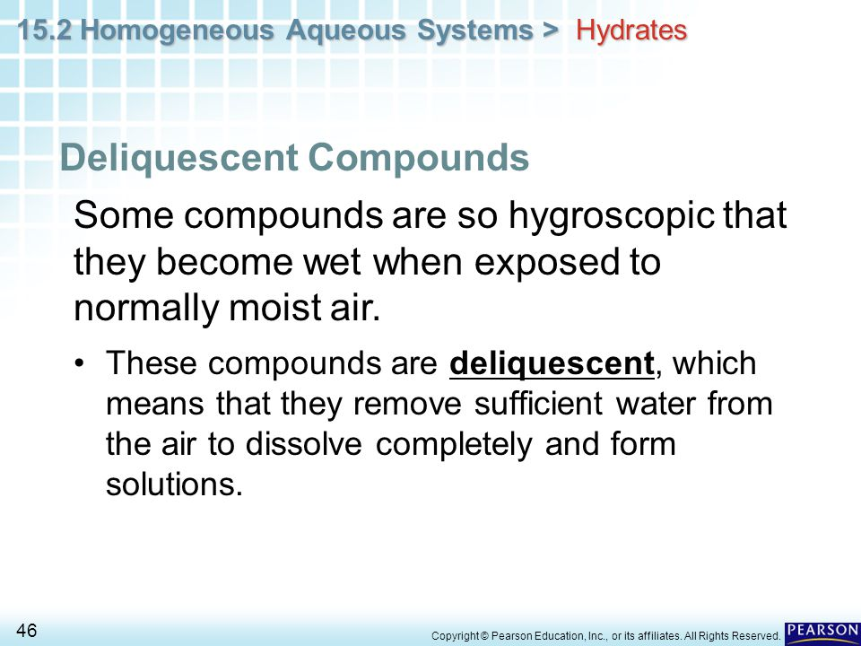 Deliquescent Compounds