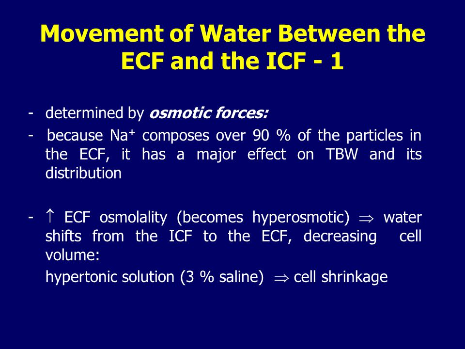 Movement of Water Between the ECF and the ICF - 1