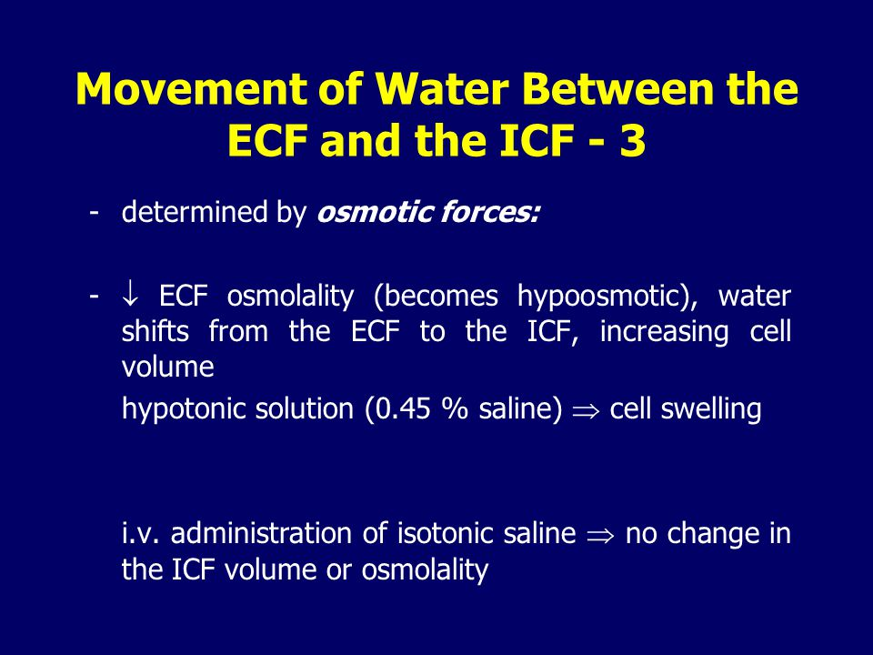 Movement of Water Between the ECF and the ICF - 3