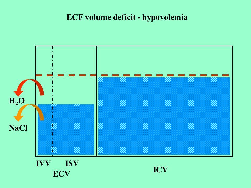 ECF volume deficit - hypovolemia