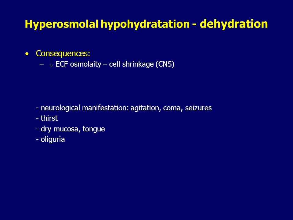 Hyperosmolal hypohydratation - dehydration