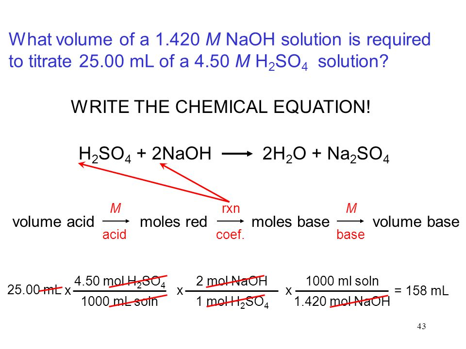WRITE THE CHEMICAL EQUATION!