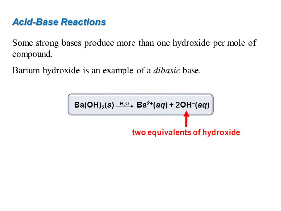 two equivalents of hydroxide