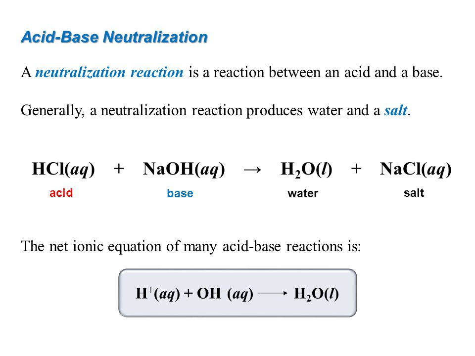 How to Solve a Neutralization Equation