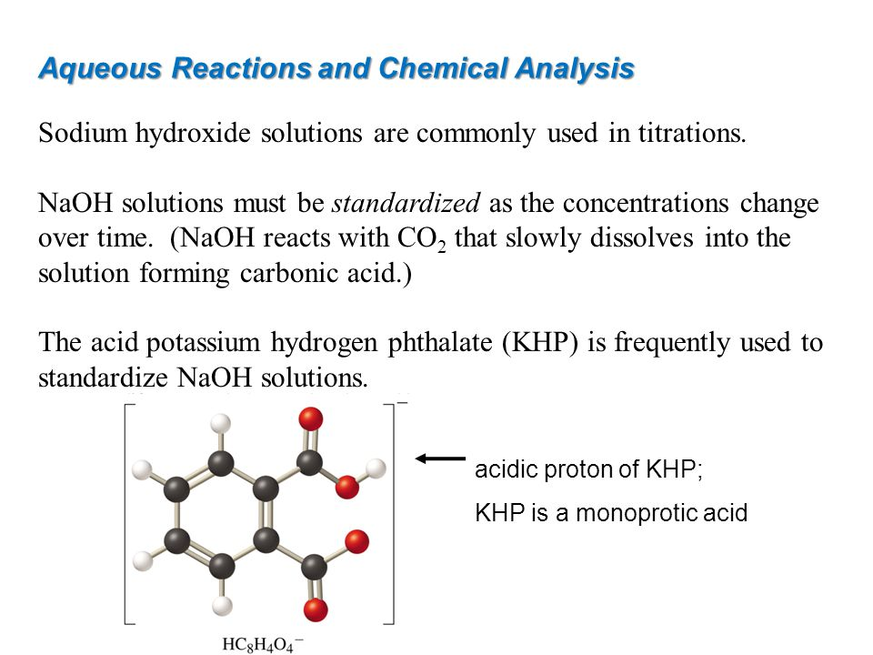 Aqueous Reactions and Chemical Analysis