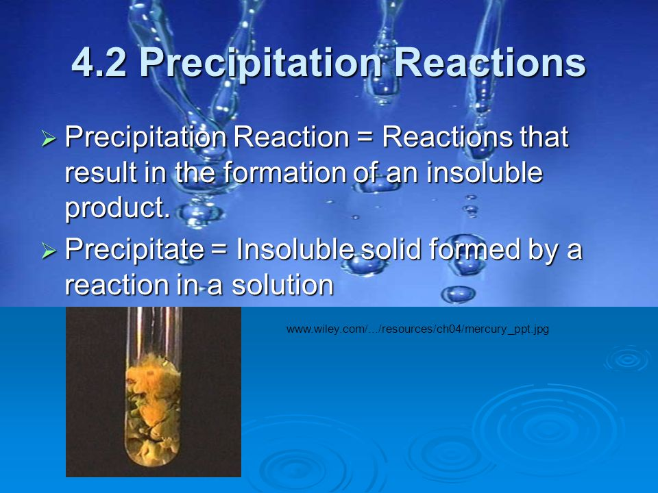 4.2 Precipitation Reactions