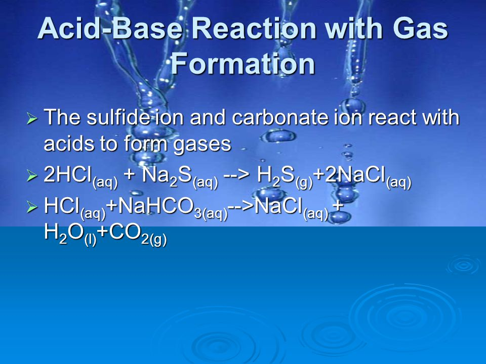 Acid-Base Reaction with Gas Formation