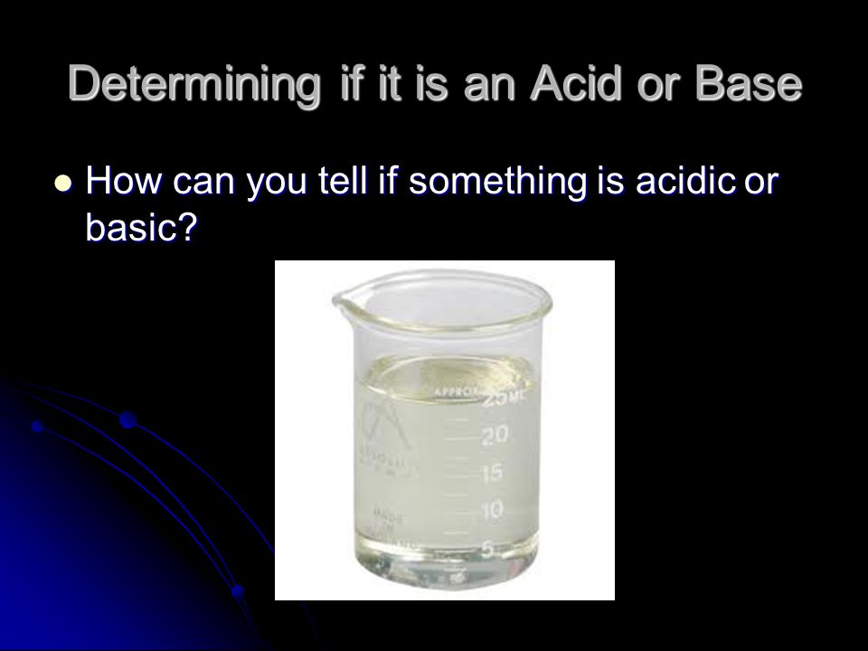 Determining if it is an Acid or Base