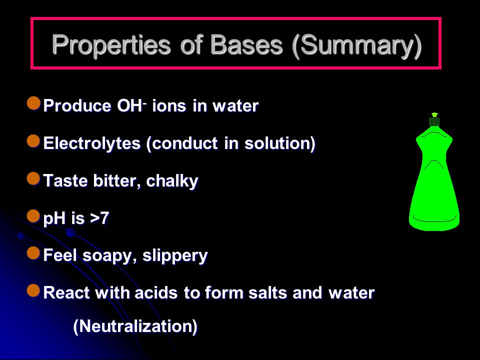 Properties of Bases (Summary)