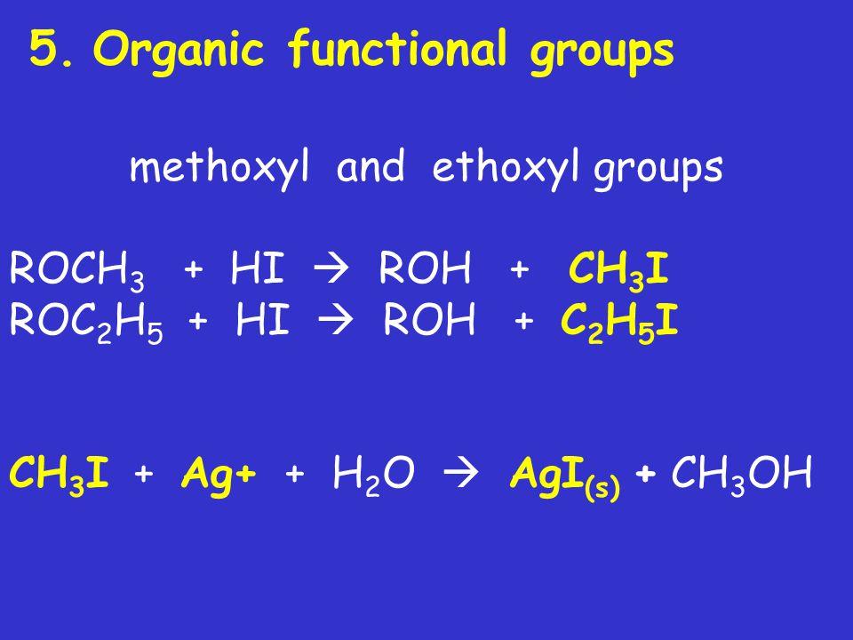 methoxyl and ethoxyl groups