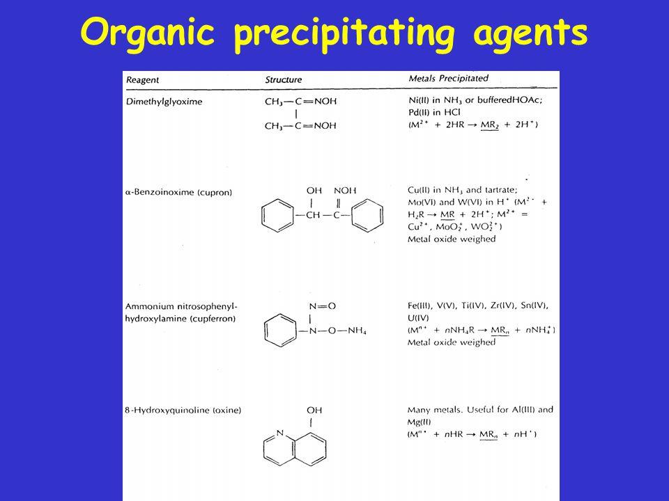 Organic precipitating agents