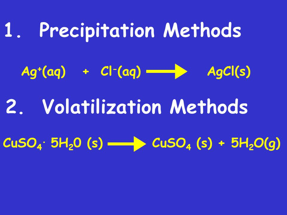 1. Precipitation Methods