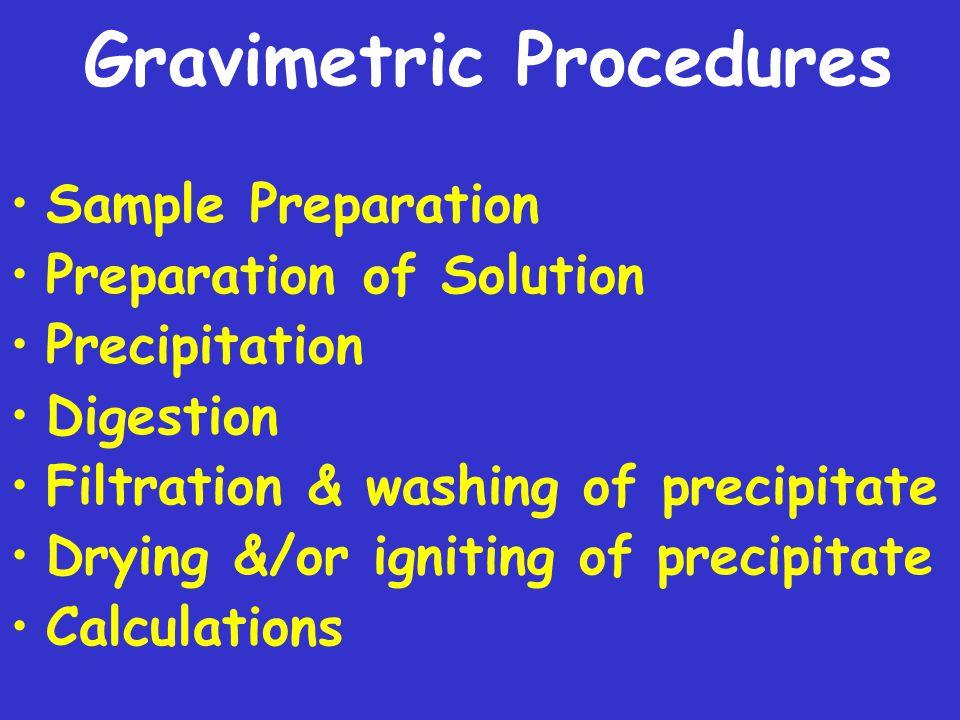 Gravimetric Procedures