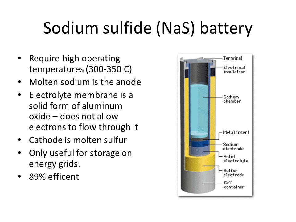 Sodium sulfide (NaS) battery