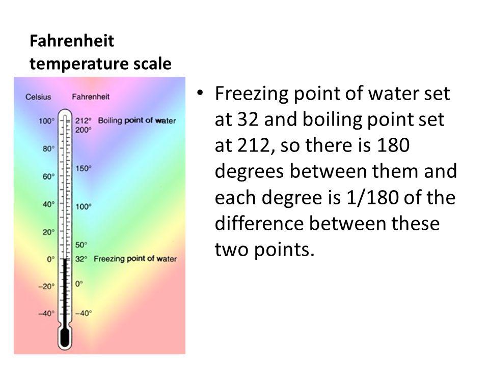 Fahrenheit temperature scale
