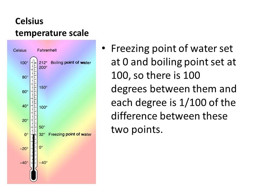 Celsius temperature scale