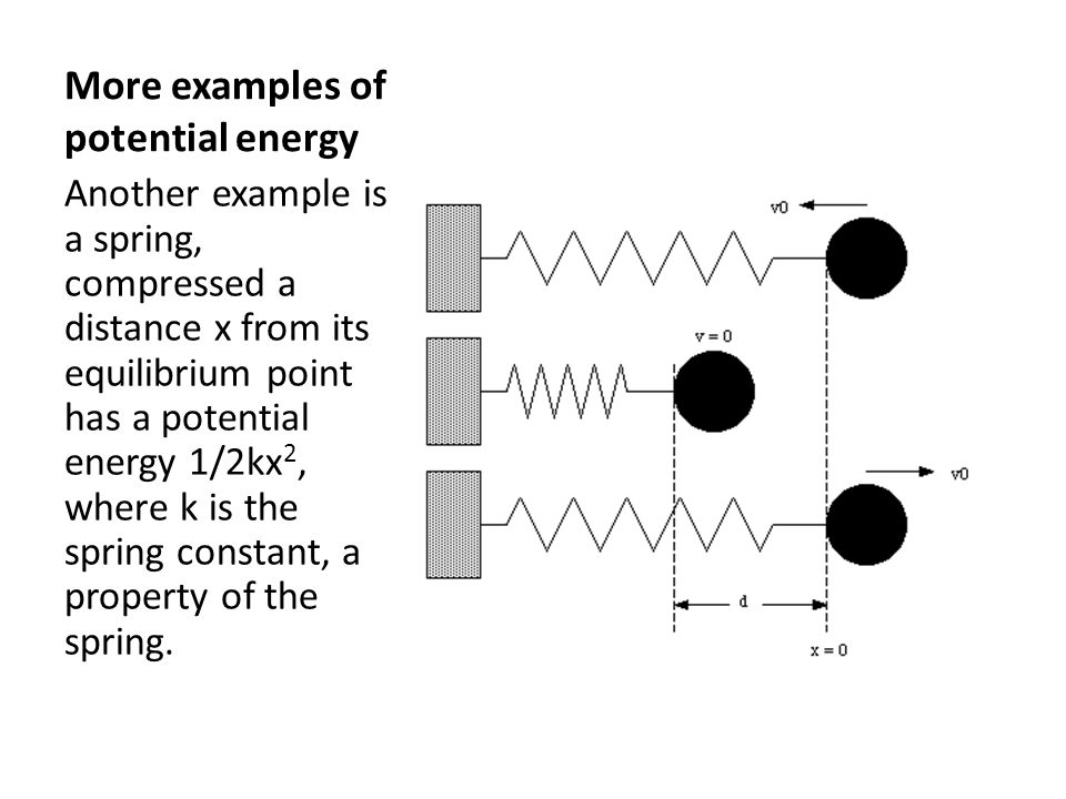 More examples of potential energy