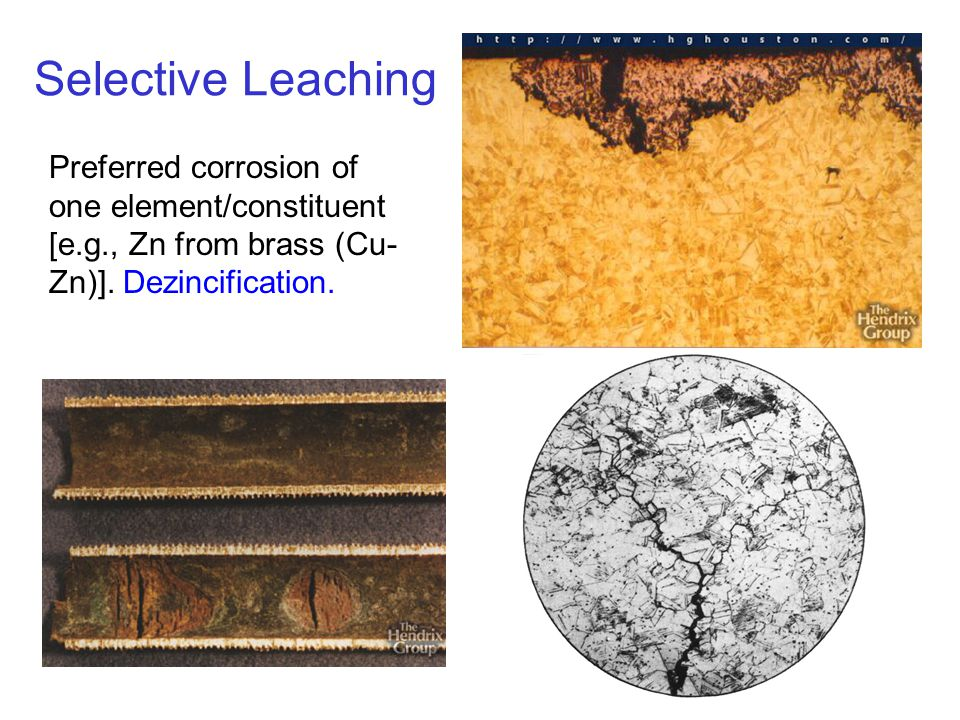 c16f21 Selective Leaching Preferred corrosion of