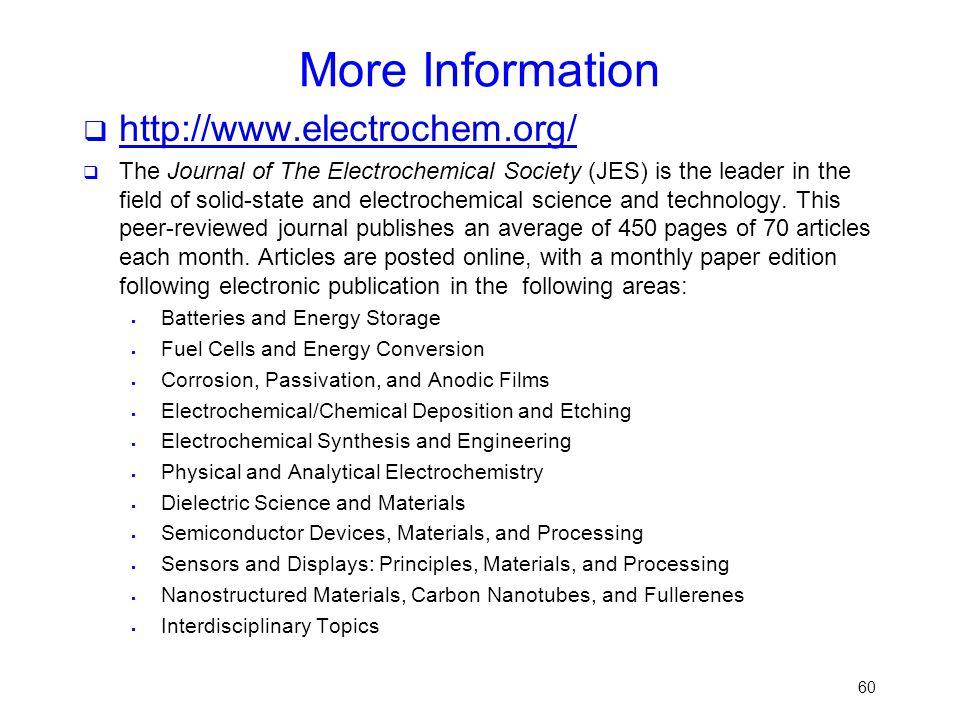 More Information http://www.electrochem.org/