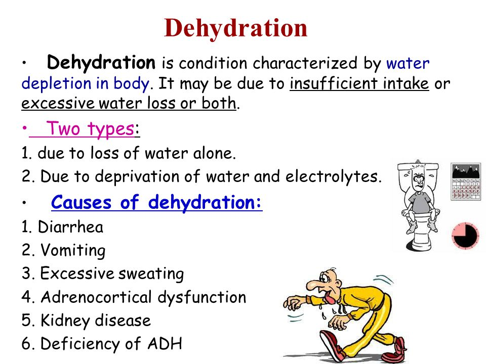 Dehydration Two types: