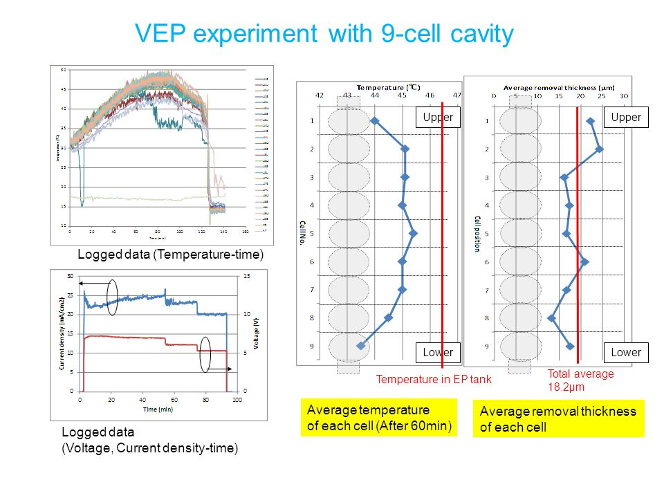 VEP experiment with 9-cell cavity