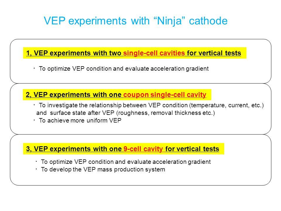VEP experiments with Ninja cathode