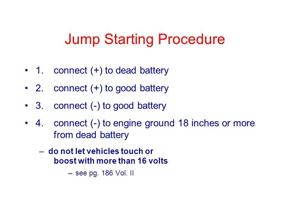 Jump Starting Procedure