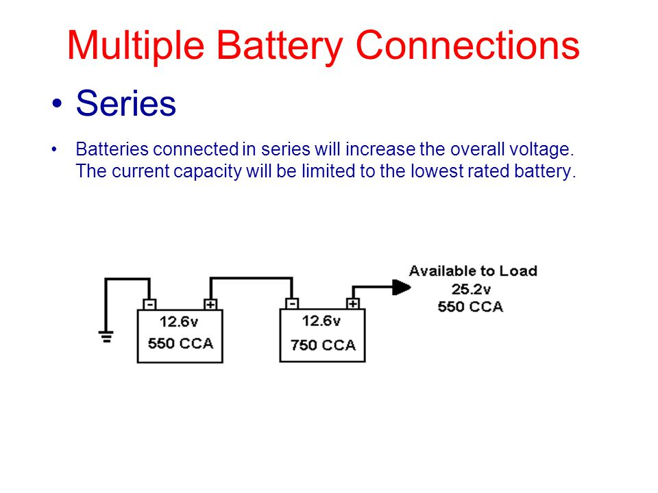 Multiple Battery Connections