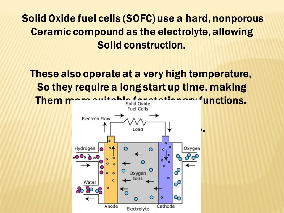 Solid Oxide fuel cells (SOFC) use a hard, nonporous
