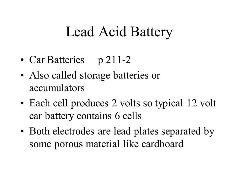 Lead Acid Battery Car Batteries p 211-2