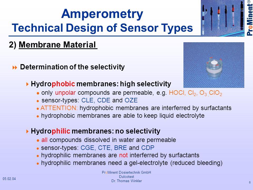Technical Design of Sensor Types