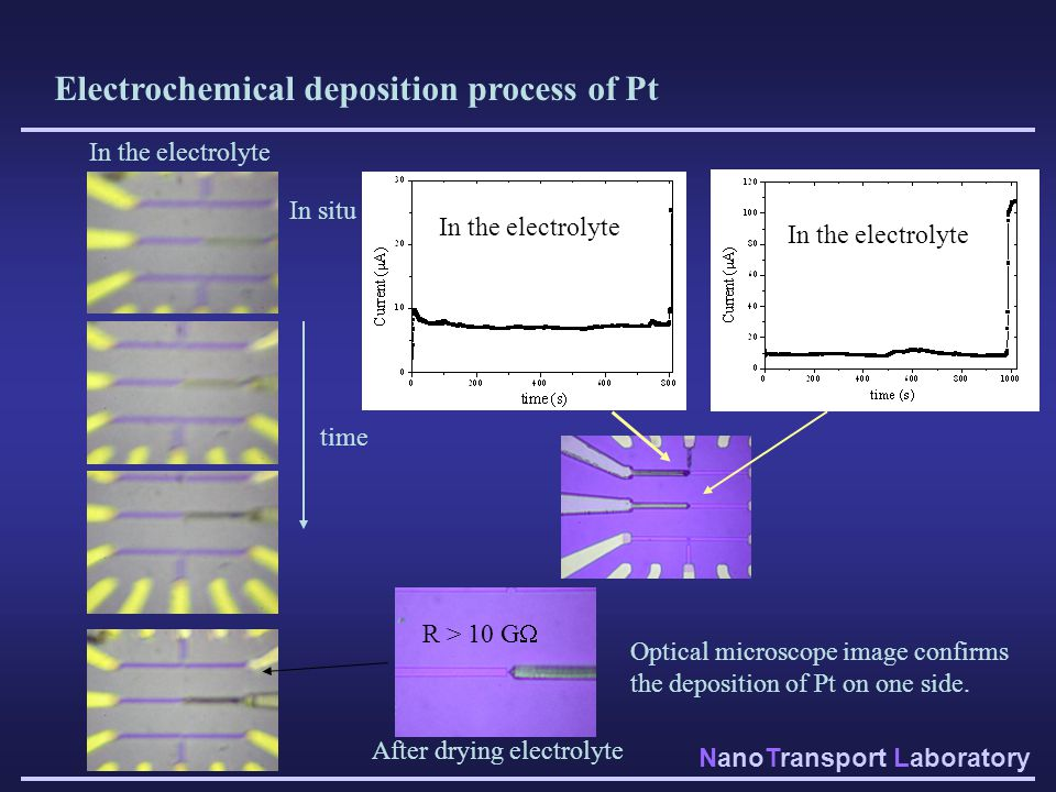 Electrochemical deposition process of Pt