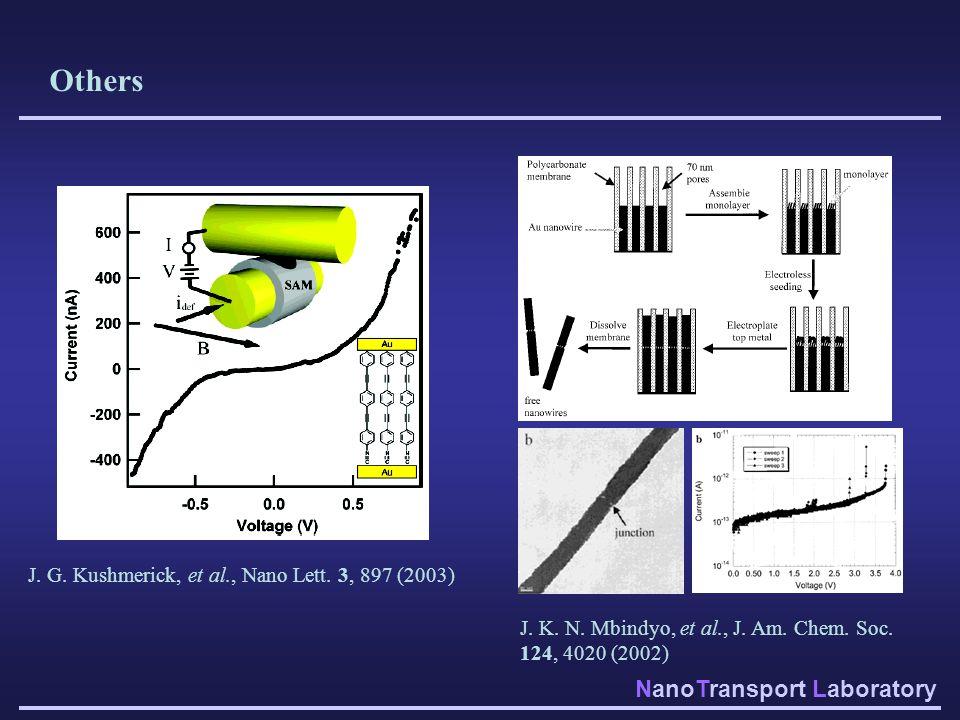 Others J. G. Kushmerick, et al., Nano Lett. 3, 897 (2003)