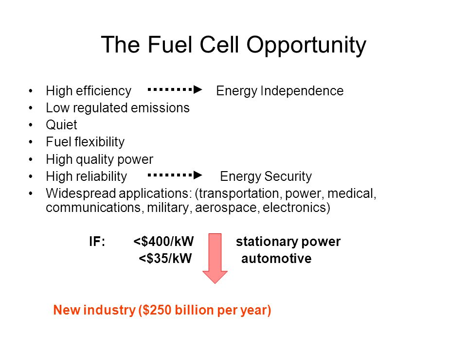 The Fuel Cell Opportunity