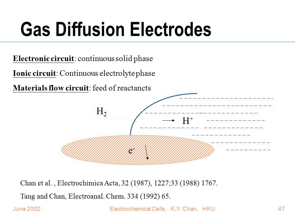 Gas Diffusion Electrodes