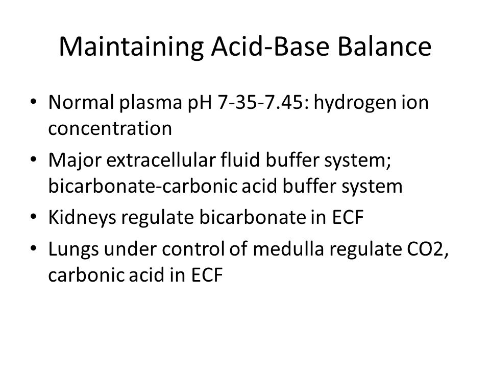 Maintaining Acid-Base Balance