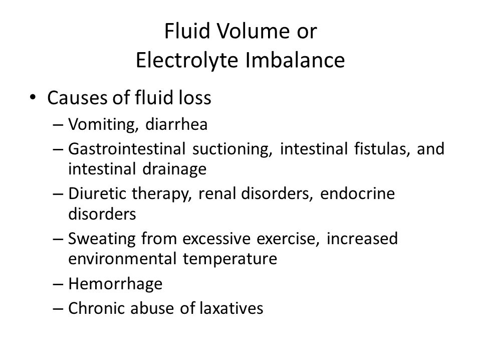 Fluid Volume or Electrolyte Imbalance