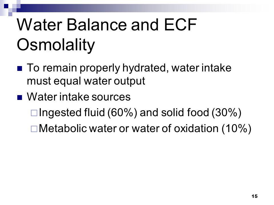 Water Balance and ECF Osmolality
