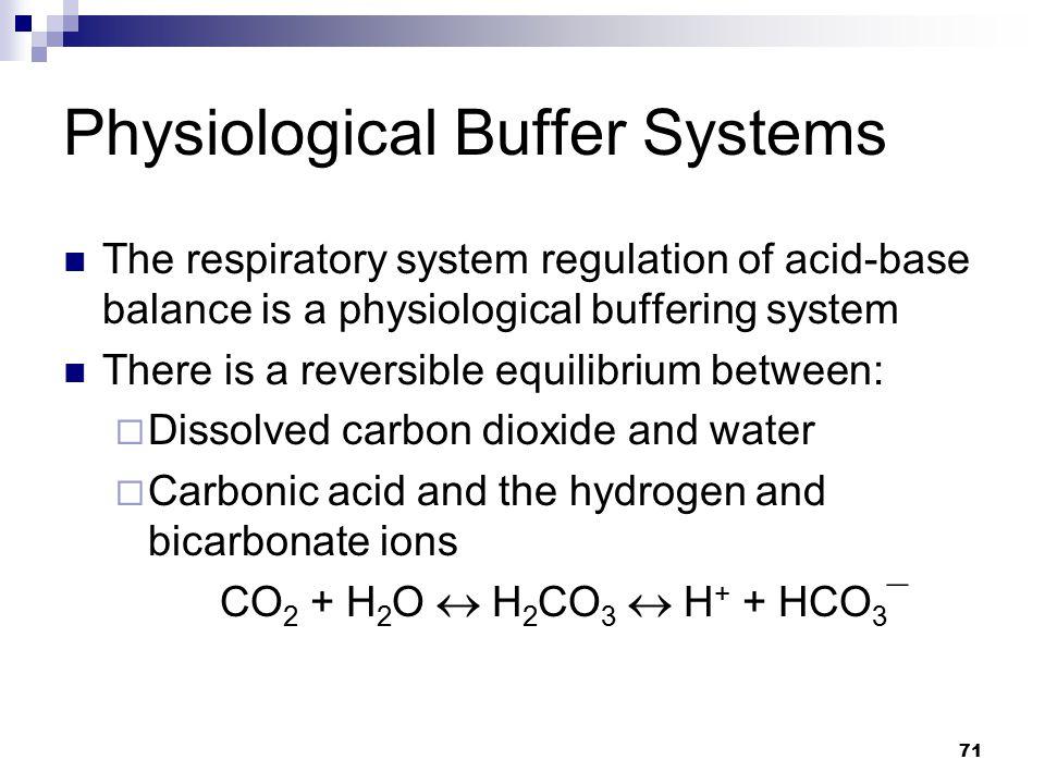 Physiological Buffer Systems