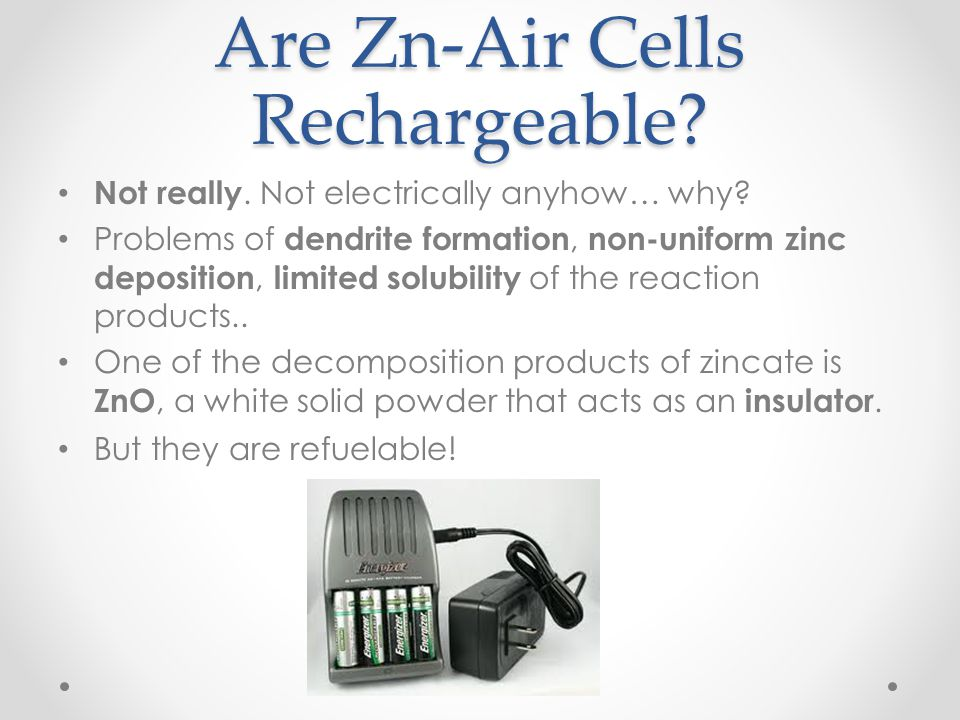 Are Zn-Air Cells Rechargeable
