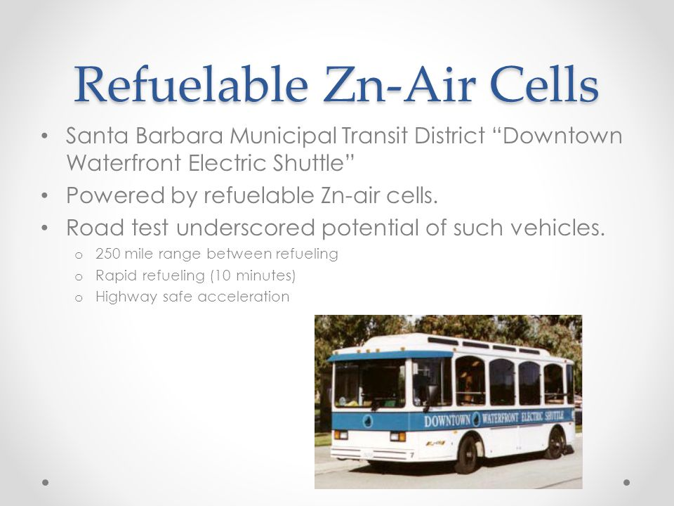Refuelable Zn-Air Cells